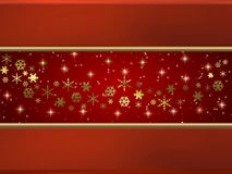 Red & gold holiday background Royalty Free Stock Image