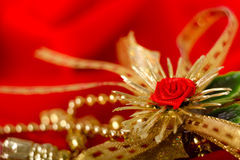 Red and gold. Holiday decorations Royalty Free Stock Photos