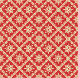Red and gold holiday seamless background Stock Photo