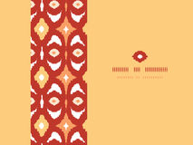 Red and gold ikat geometric frame horizontal Royalty Free Stock Photos