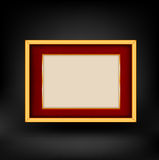 Red and gold luxury background. Black. Vector 10 eps Royalty Free Stock Image