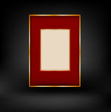Red and gold luxury background Stock Image