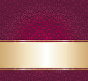Red and gold luxury vintage wallpaper background Stock Image