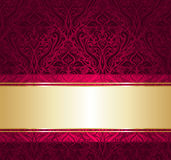 Red and gold  luxury vintage wallpaper Royalty Free Stock Photography