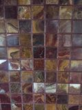Red And Gold Marbleized Tile Royalty Free Stock Photos