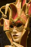 Red gold mask from venice Stock Image