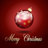 Red gold merry christmas ball Royalty Free Stock Image