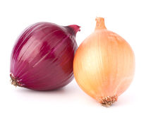 Red and gold onion bulbs Royalty Free Stock Photography