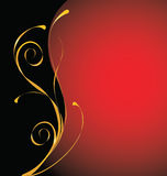 Red and gold ornamental background Royalty Free Stock Photo