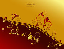 Red and gold ornamental background Stock Photo