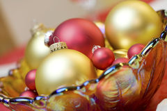 Red and gold ornaments Stock Image