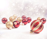 Red and Gold Ornaments. Red and gold Christmas Ornaments Stock Image