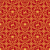 Red and gold ornate background Stock Photos