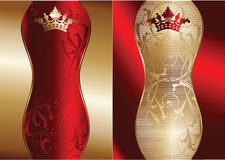Red And Gold Ornate Banner Royalty Free Stock Image