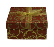 Red and gold ornate Gift Box Stock Image