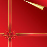 Red and Gold Paper Royalty Free Stock Image
