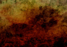 Red and Gold Parchment Paper Texture Background. Red and gold hand-painted burnt grunge parchment paper with visible brush strokes, background texture Stock Image
