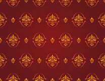 Red and gold pattern Stock Photo