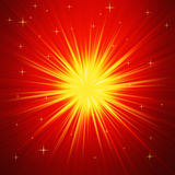 Red and Gold Radial abstract starburst background Stock Photos