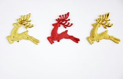 Red and gold reindeer christmas Royalty Free Stock Photos