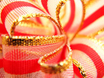 Red and gold ribbon Stock Photo