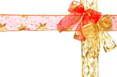 Red and gold ribbon Stock Images