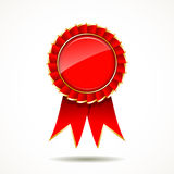 Red and gold ribbon award Royalty Free Stock Photography