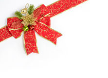 Red and gold ribbon bow Royalty Free Stock Photography