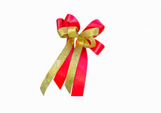 Red and gold ribbon is one Stock Image