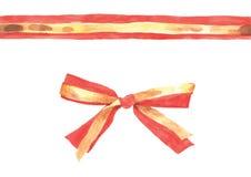 Red gold ribbon stock illustration