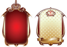 Red And Gold Royal Ornate Banner. Stock Image