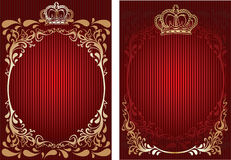 Red And Gold Royal Ornate Banner. Royalty Free Stock Images