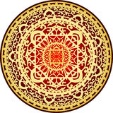 Red & gold rug. Vector illustration of oriental red & gold rug Royalty Free Stock Images
