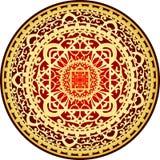 Red & gold rug. Vector illustration of oriental red & gold rug stock illustration
