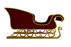 Red and gold santa sleigh Royalty Free Stock Images