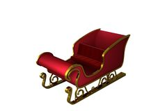 Red and gold santa sleigh Royalty Free Stock Photo