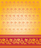 Red and gold saree design Royalty Free Stock Images