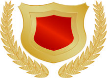 Red and gold shield Stock Photos
