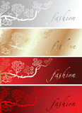 Red Gold Silk Fashion Background Royalty Free Stock Photo