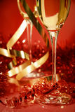 Red and gold sparkle stock photography