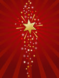 Red and gold star illustration Royalty Free Stock Image