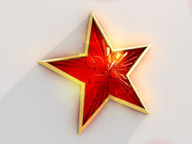 Red and gold star Stock Photos