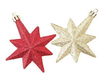 Red and gold stars Royalty Free Stock Image