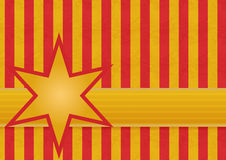 Red and gold stripes with a star Royalty Free Stock Photography