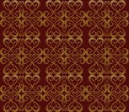 Red and Gold Swirl Pattern Royalty Free Stock Image