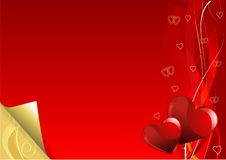 Red and Gold Valentine Day background Royalty Free Stock Image