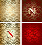 Red Gold Various Circle Ornament Stock Image