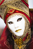 Red and gold Venetian costume Stock Photography