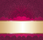 Red and gold vintage invitation background Stock Photos