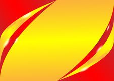 Red and gold wave background Royalty Free Stock Images